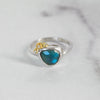 November Ring - London Blue Topaz + Diamond No.3