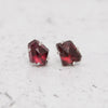 The January Collection - Geometric Garnet Stud Earrings No. 1