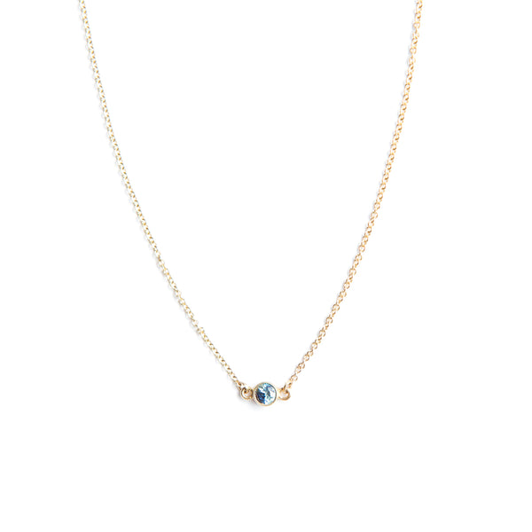 Gossamer Necklace with Sapphire