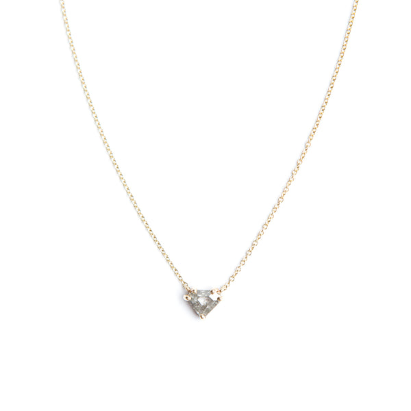 Shield Cut Diamond Pendant No. 04