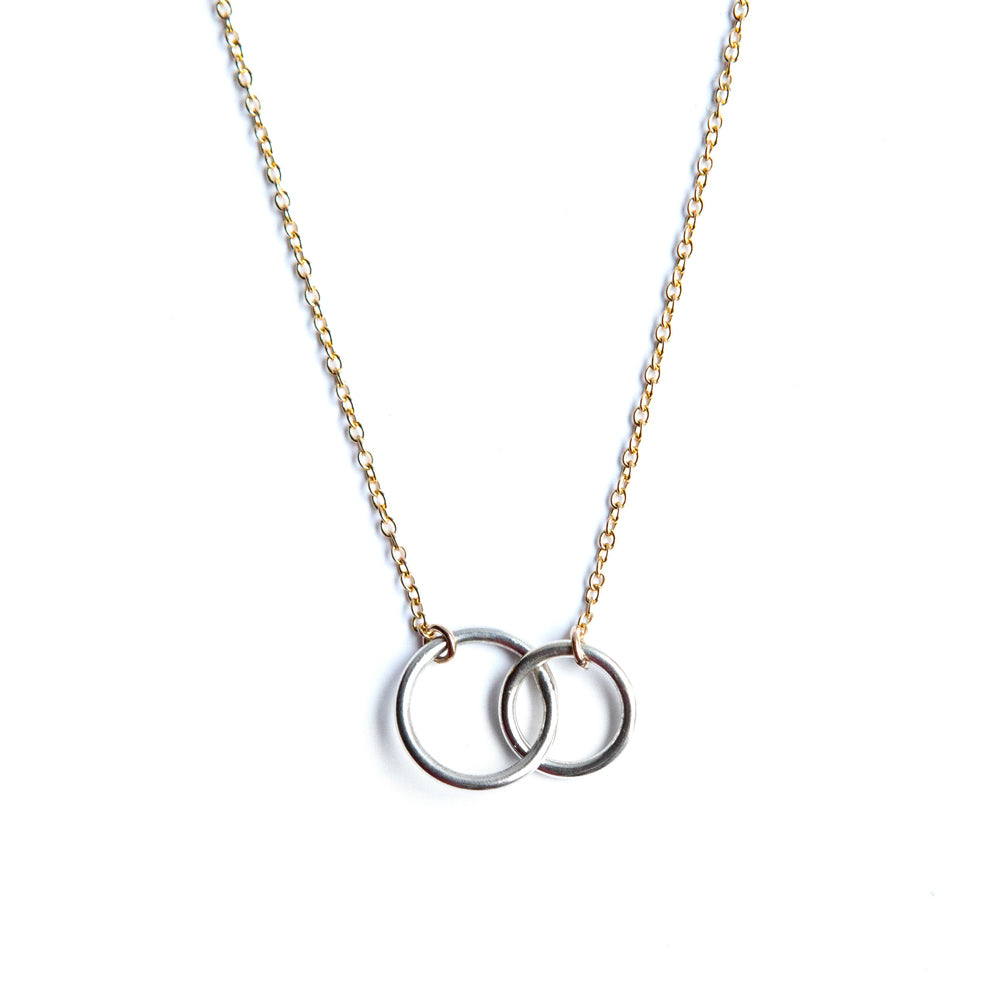 Entwined Double Circle Necklace