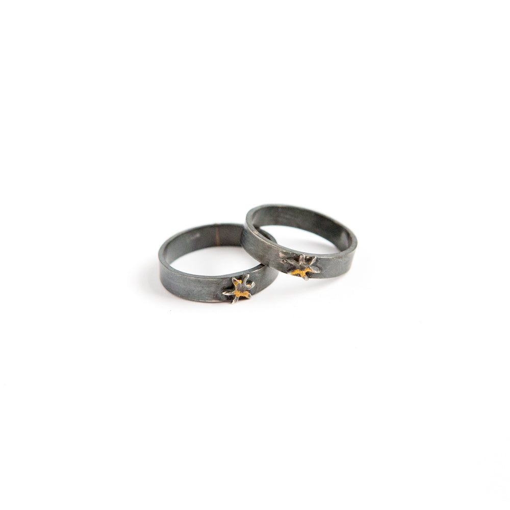 Sol Band - 24k Gold + Oxidized Sterling Silver