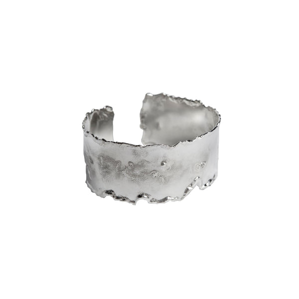Reticulated Cuff Bracelet in Sterling Silver  - 1.5 inch wide