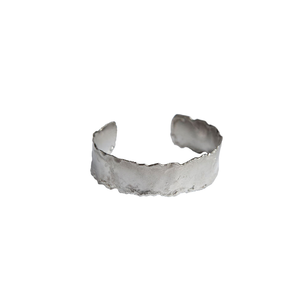 Reticulated Cuff Bracelet in Sterling Silver - .75 inch
