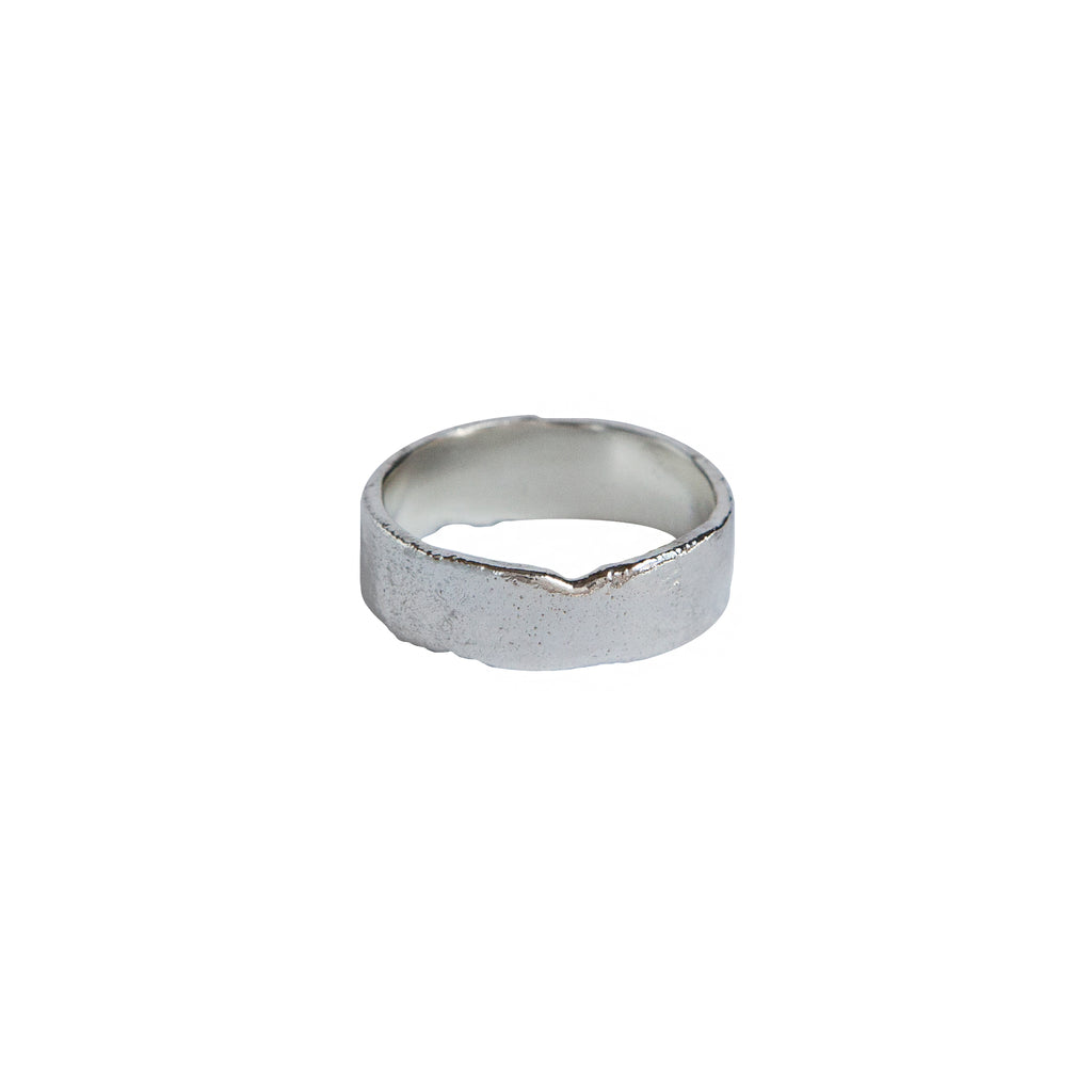 Wide Reticulated Band in Sterling Silver