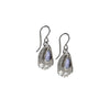 Reticulated Drop Earrings - Tanzanite in Sterling Silver