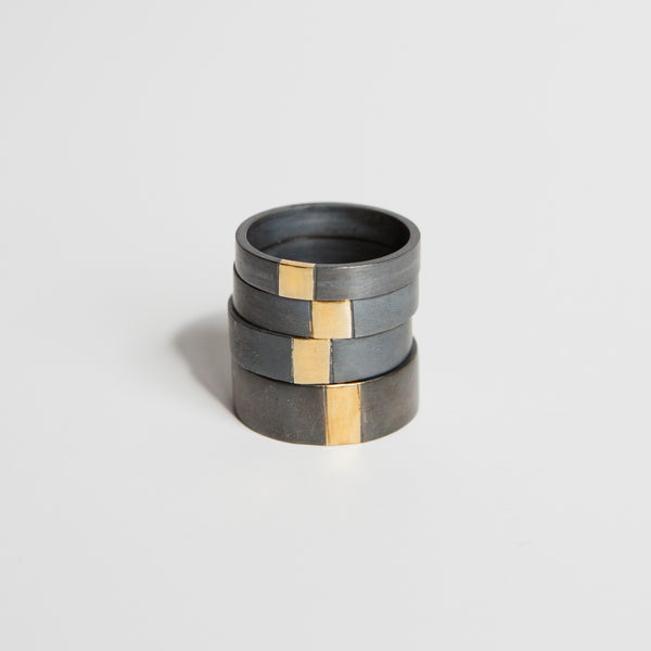 The Black + Gold Band - 8mm
