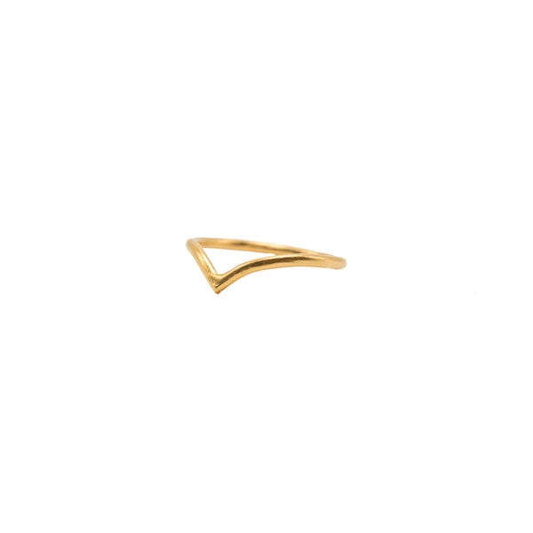 Chevron Ring in Gold Vermeil