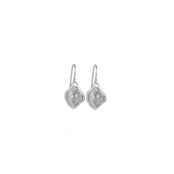 Herkimer Diamond + Sterling Silver Glacier Drop Earrings