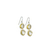 Herkimer Diamond + 22k Gold 2 Stone Glacier Drop Earrings