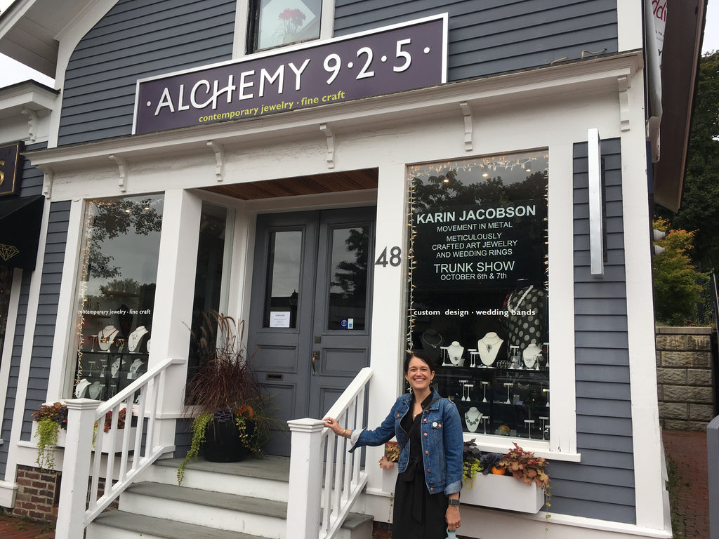 Karin Jacobson Jewelry at Alchemy 925 in Belmont MA