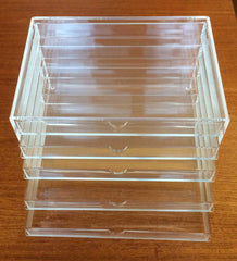 Muji clear acrylic 5 drawer case