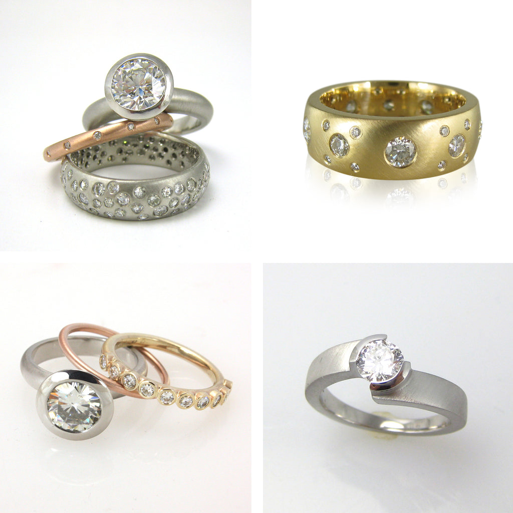 Karin Jacobson Jewelry Design custom engagement and wedding rings