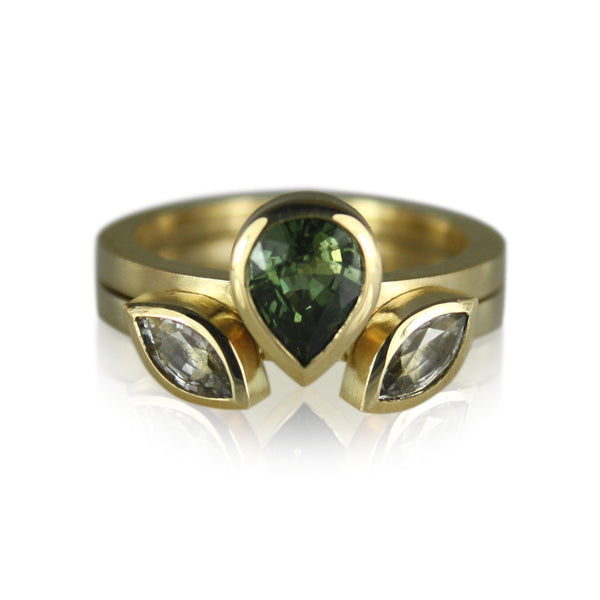 green sapphire pear stack