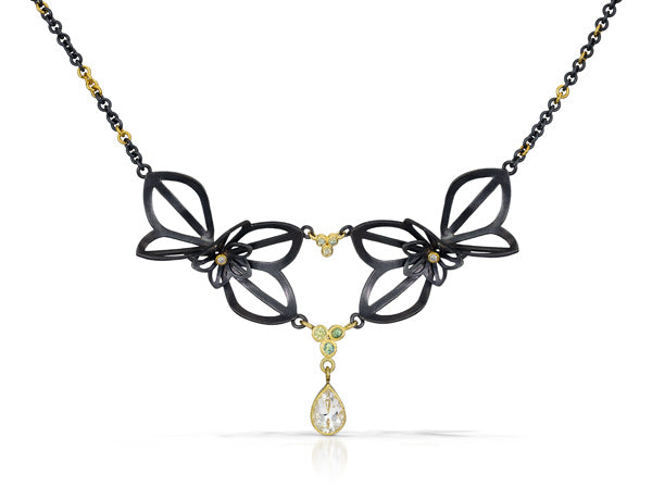 one of a kind amaryllis necklace