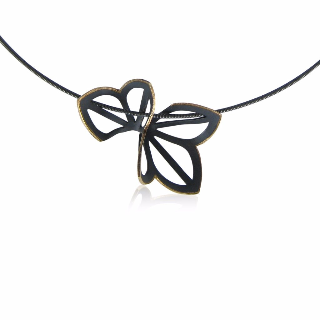 anise fold necklace with 18k yellow gold edge
