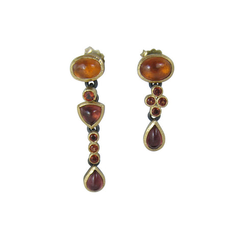 Garnet Gemmy Drop Earrings