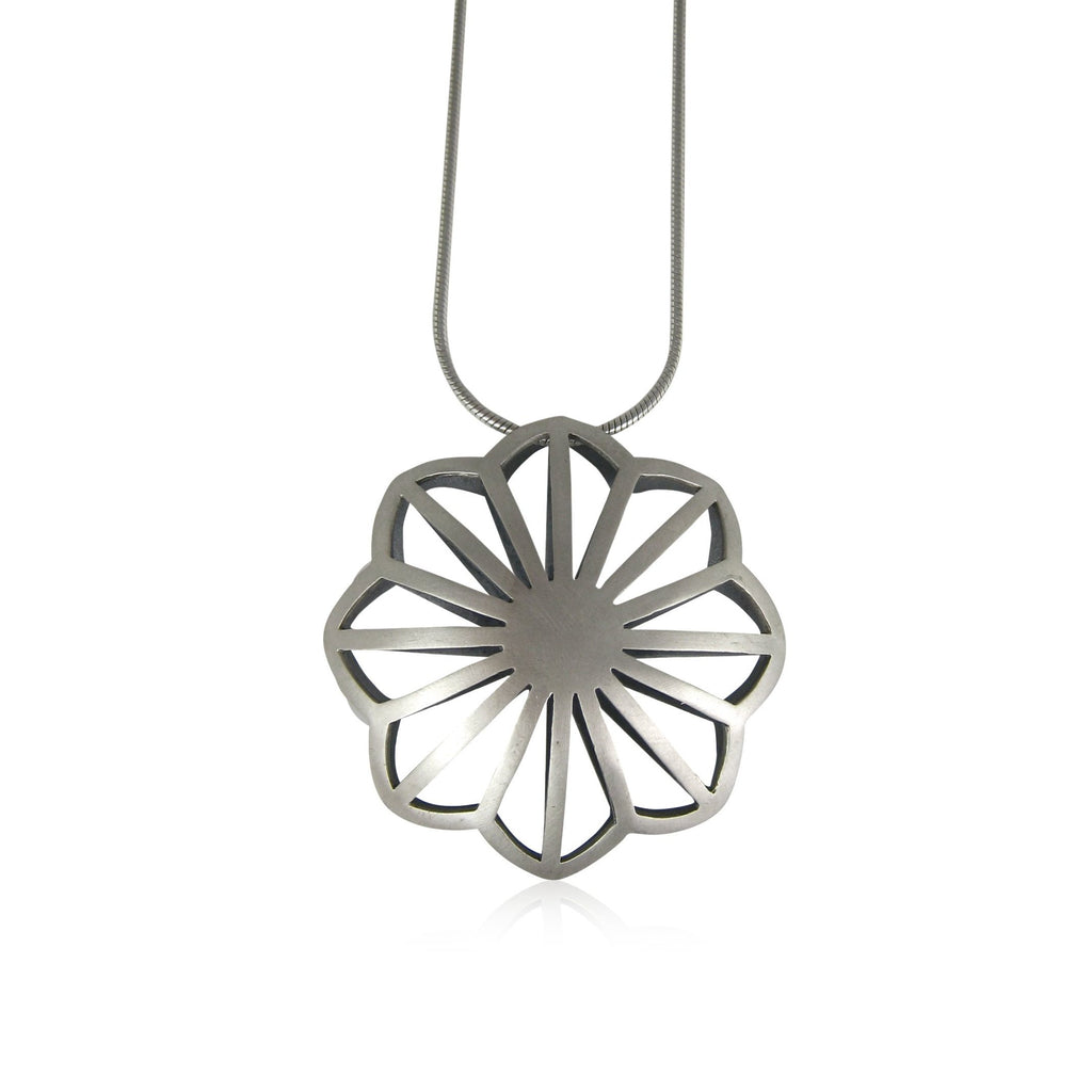 dahlia pillow necklace