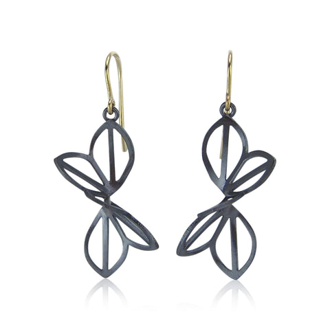 medium anise fold earrings with french wires