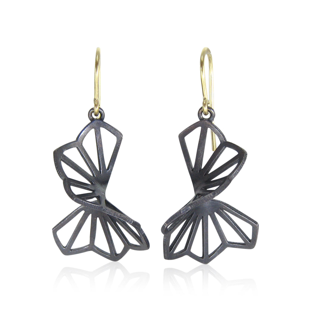medium hyacinth fold earrings with french wires