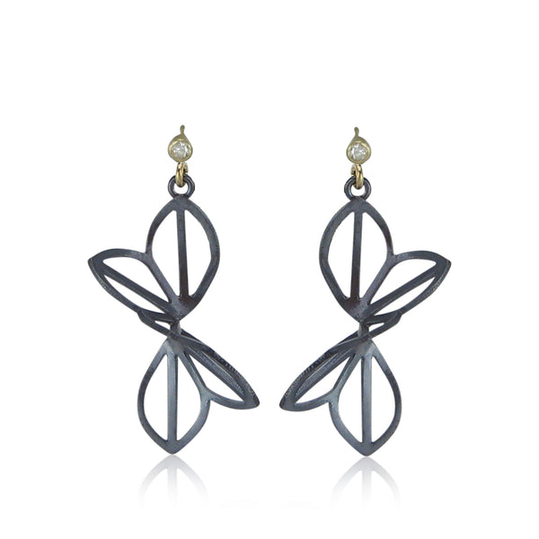 anise fold earrings with diamonds