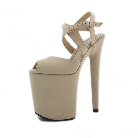 Diana cream vegan suede sandals