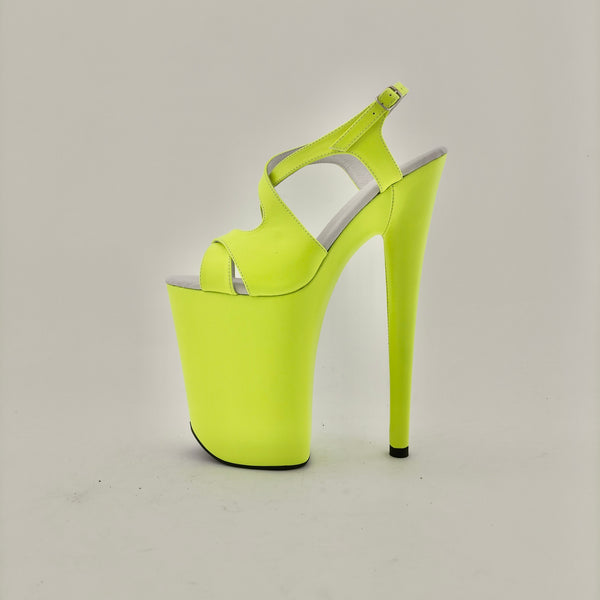 Wishes neon yellow vegan leather sandals (more colors are available)