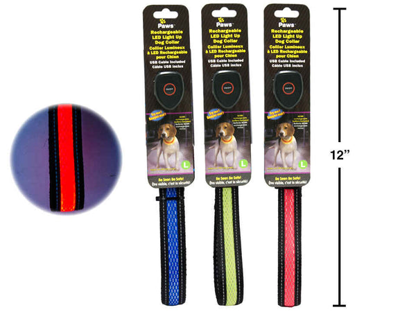 "23"" Light Up Rechargeable Pet Collar w/ USB Cable (L)"