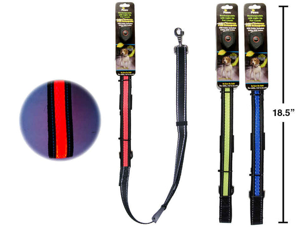 4.5' Light Up Rechargeable Dog Leash w/ USB Cable