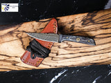 Hand forged Damascus Knife Neck Knife TD-233