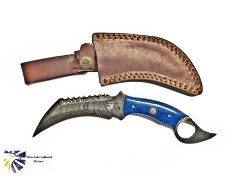 Damascus Wicked Karambit by Titan TD-179