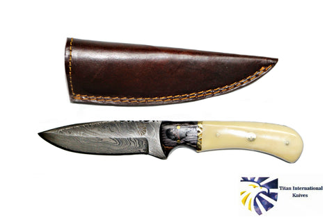 DAMASCUS STEEL HUNTING KNIFE BY TITAN TD-172