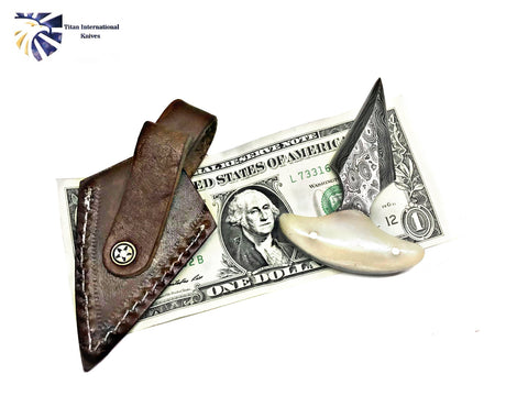 Damascus EDC blade/ Push Dagger/ Rain drop Damascus /A perfect Carry size by Titan TD-211