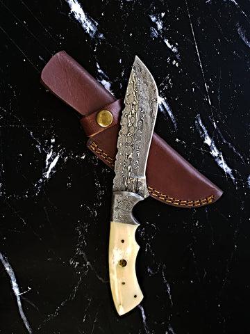 Damascus Titan Terrain- Damascus Steel knife/ Full tang/ Drop point TD-302