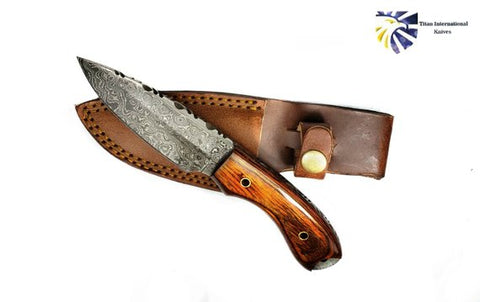Drop point Damascus Knife by Titan TD-230