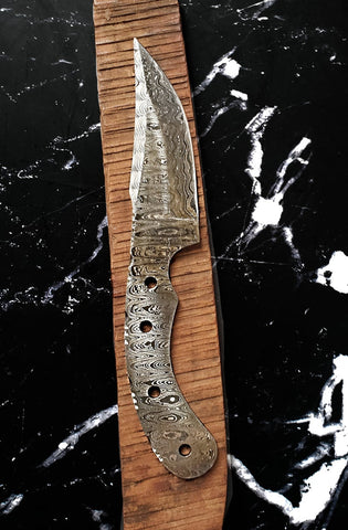 Damascus steel blank blade, Hand Forged - Tactical Bushcraft Hunting - Knife Makers, Knife Making, DIY Knives