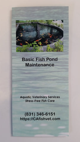 Pond/Goldfish Brochure Bundle! - Dr. Sanders FREE Aquatic Animal Health & Husbandry Brochures