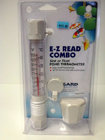 Thermometer- Pond E-Z Read Combo