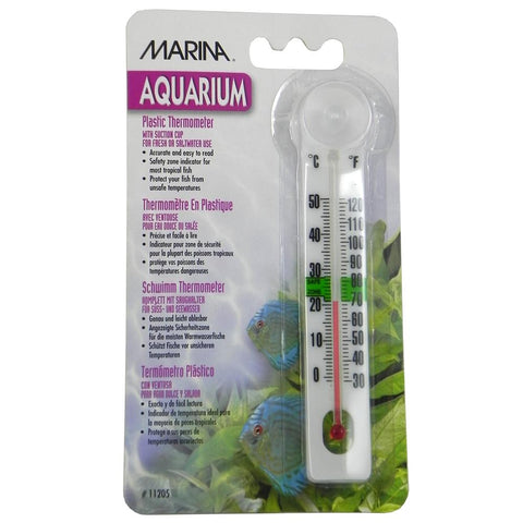 Thermometer- Aquarium, Plastic with Suction Cup