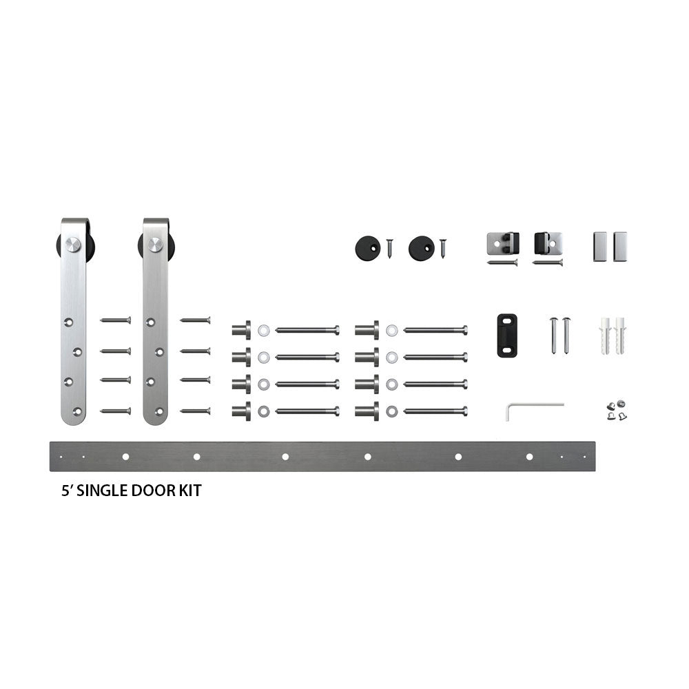 Classic Strap Furniture Sliding Door Hardware (Single Door Kits)