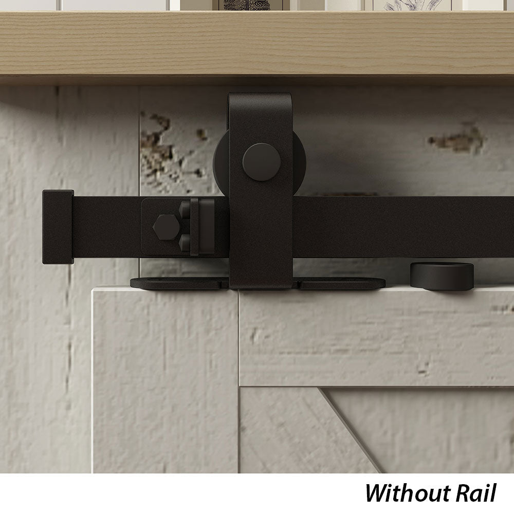 Top Mount Furniture Sliding Door Hardware Roller Kit (Without Rail)