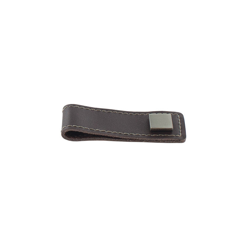 "3-5/16"" Genuine leather pull for barndoors"