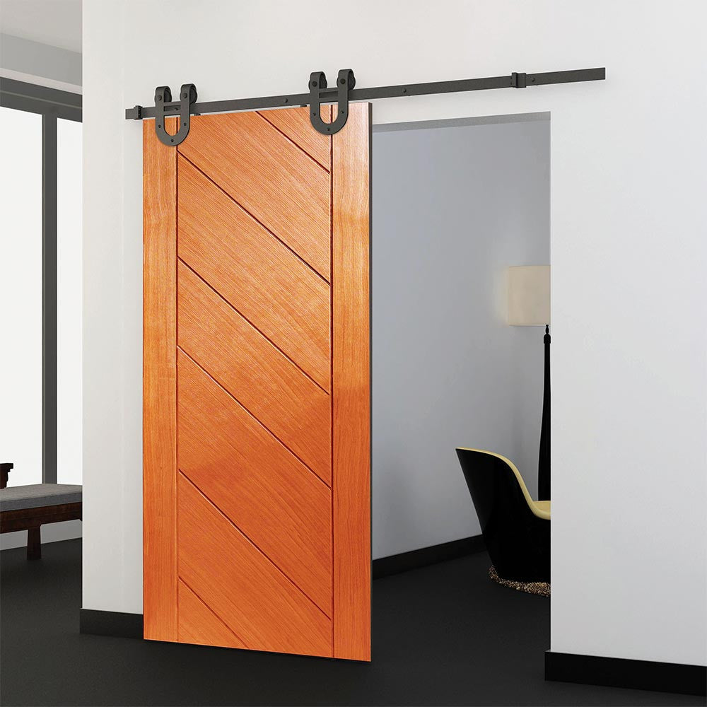 application of reserve horseshoe single wood door kit