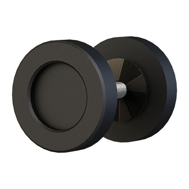 matte black finish 2 inch knob for barndoors