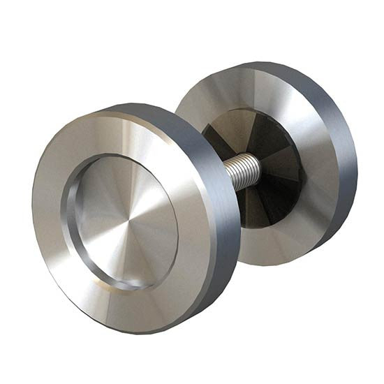 Stainless steel finish 2 inch knob for barndoors