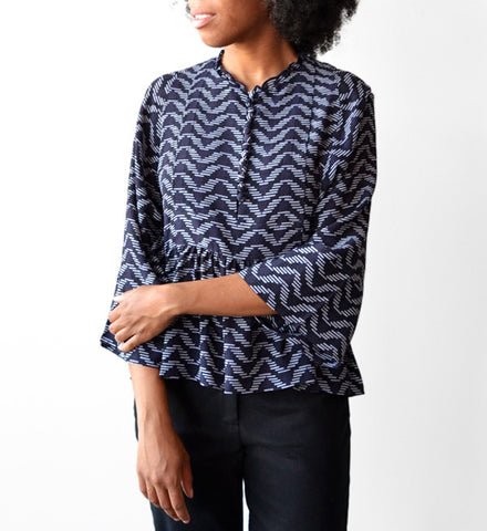 Apiece Apart 10 Thousand Waves Mesa Drape Blouse - Myth & Symbol