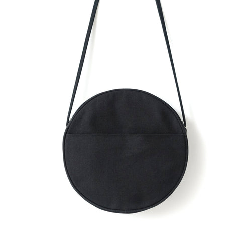 BAGGU Black Large Canvas Circle Bag
