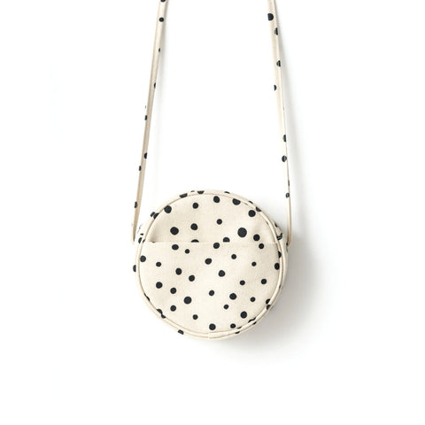 BAGGU Paint Dot Small Canvas Circle Bag