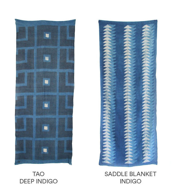 Block Shop Indigo Saddle Blanket Scarf - Myth & Symbol - 2