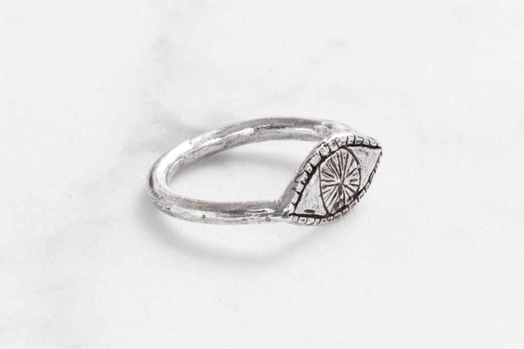 Datter Watchful Silver Eye Ring - Myth & Symbol - 3